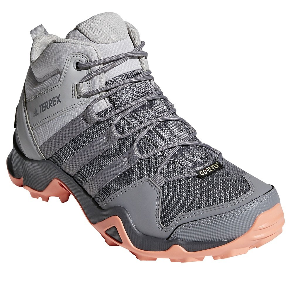 Adidas Terrex AX2R Mid GORE-TEX Hiking Boot (Women's) - Grey Two/Chalk Coral