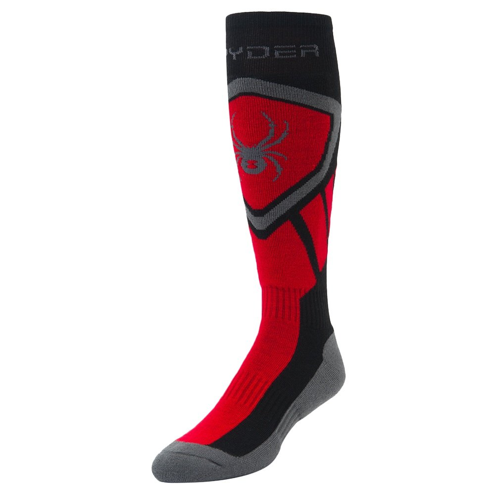 Spyder Dare Ski Sock (Men's) - Black/Formula/Polar