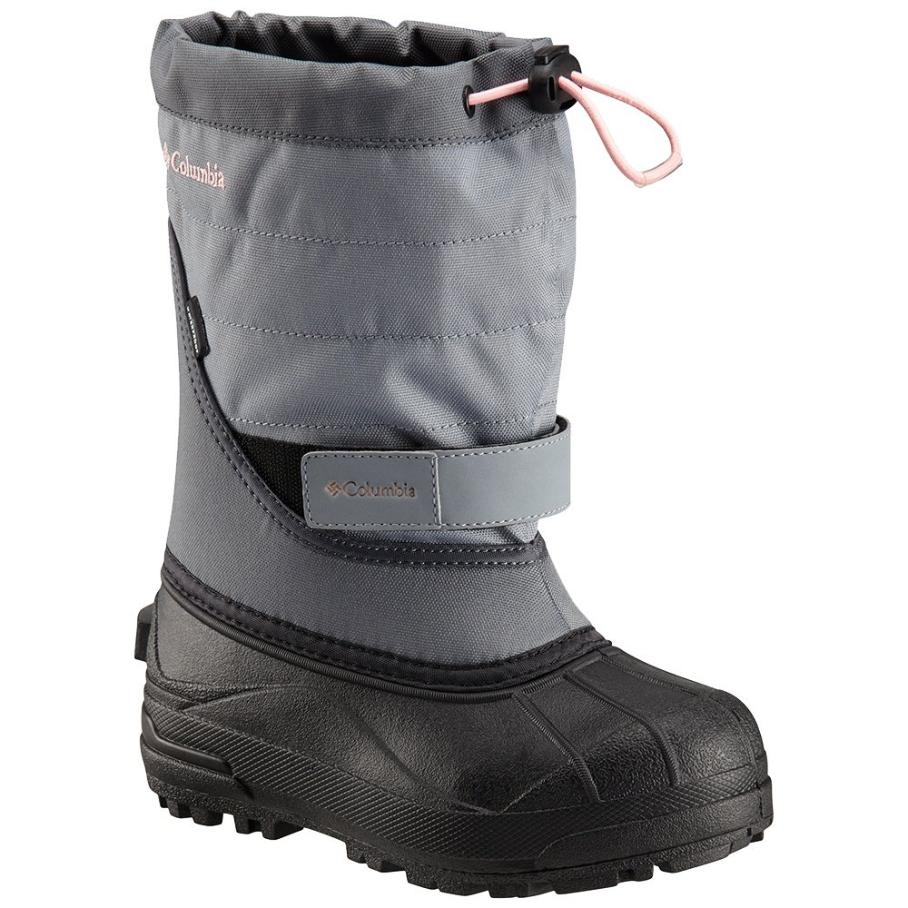 Columbia Powderbug Plus II Boot (Kids') - Grey Ash/Rosewater