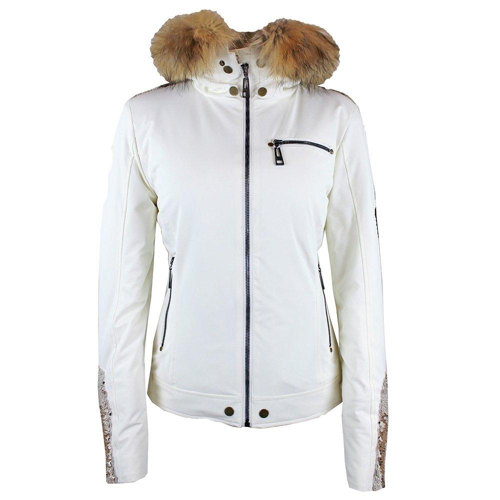 Skea Fancy Resi Ski Parka with Fur (Women's) - White Sequin