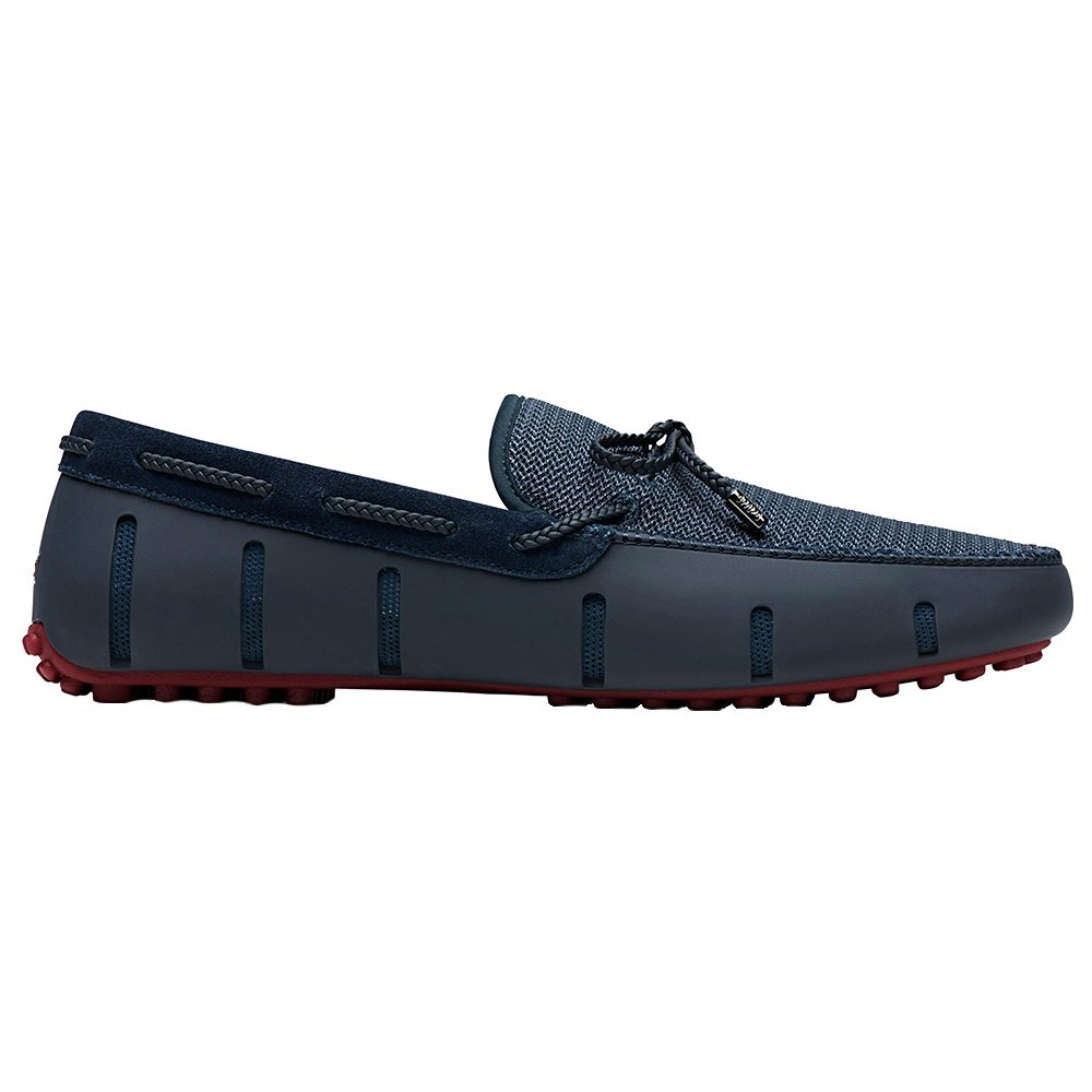 SWIMS Braided Lace Lux Loafer Driver (Men's) - Navy/Deep Red