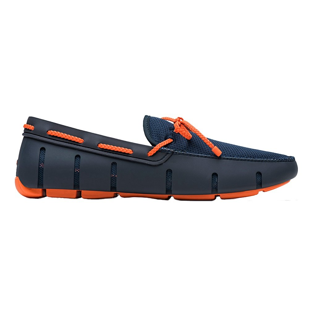 SWIMS Braided Lace Loafer (Men's) - Navy/Orange