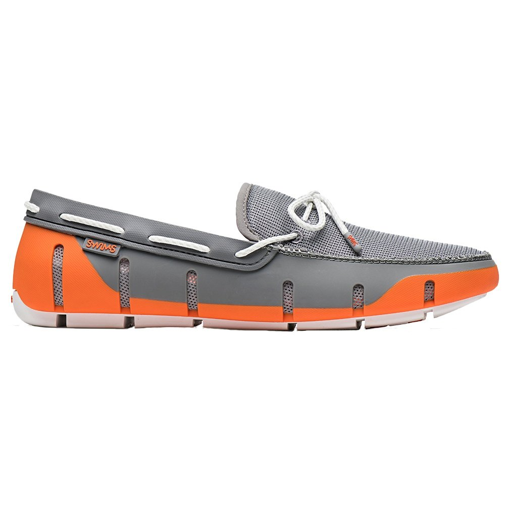 SWIMS Stride Lace Loafer (Men's) - Orange/Gray/White Fleck
