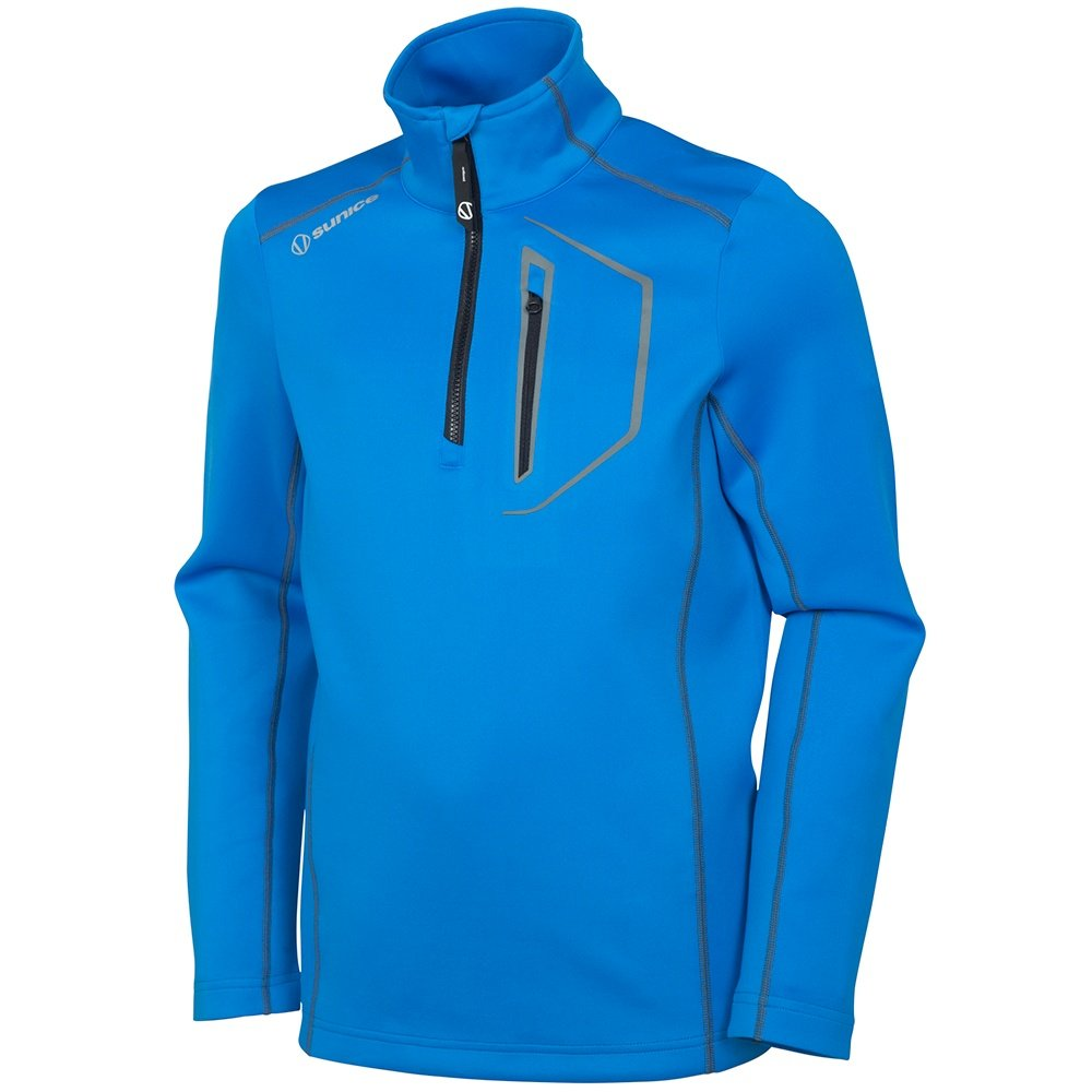 Sunice Nixon Pullover Turtleneck Mid-Layer (Boys') - Intense Blue