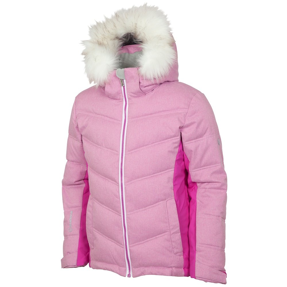Sunice Julietta Synthetic Down Ski Jacket (Girls') - Magenta Flannel