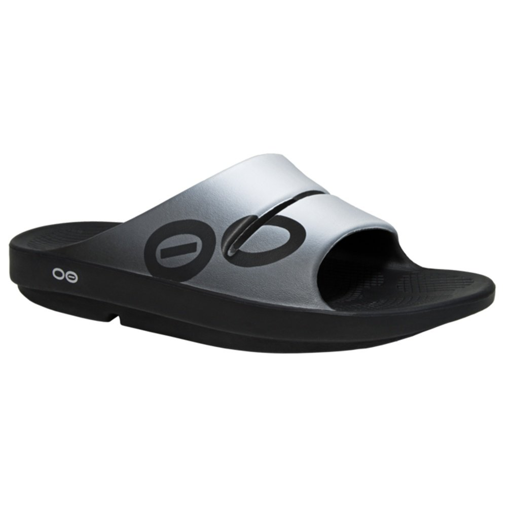 OOFOS OOahh Sport Slide Sandals (Adults') - Smoke