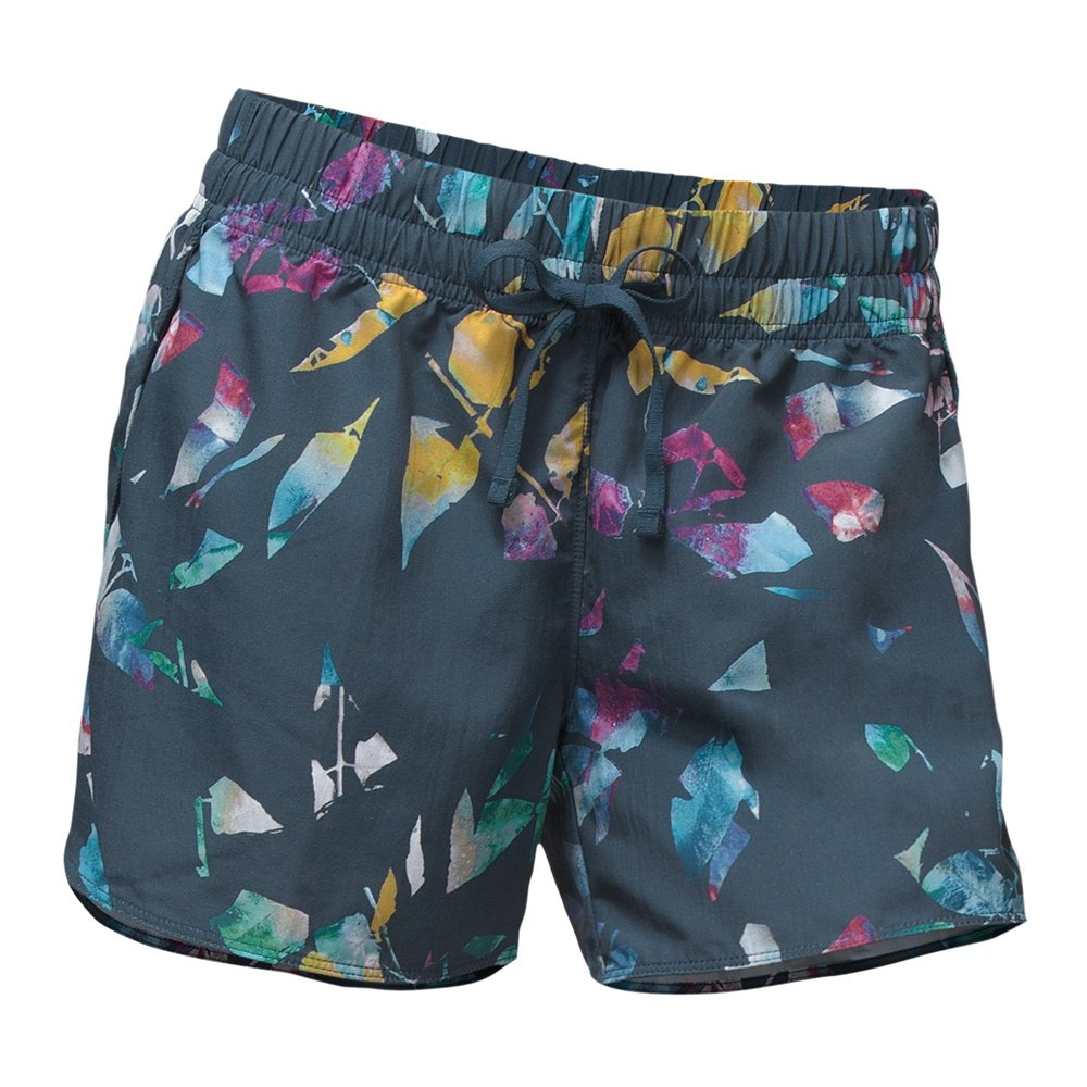 The North Face Class V Short (Women's) - Blue Wing Teal Leaf Print