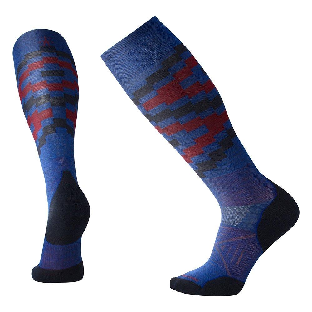 Smart Wool PhD Ski Light Elite Pattern Ski Sock (Men's) - Dark Blue