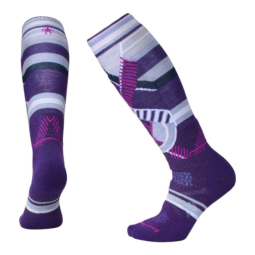 Smart Wool PhD Medium Pattern Ski Sock (Women's) - Mountain Purple