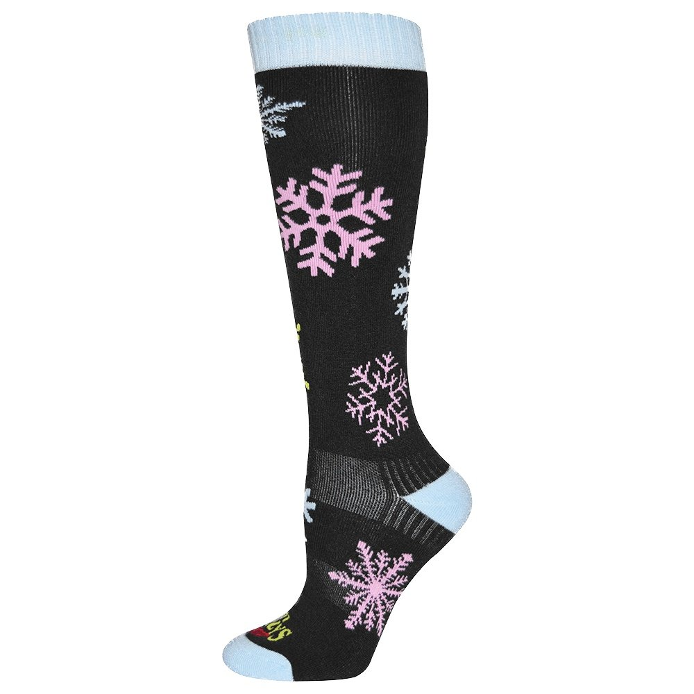 Hot Chillys Snowflakes Mid Volume Sock (Women's) -