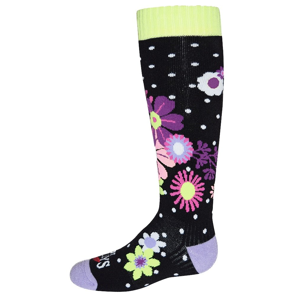 Hot Chillys Flirty Mid Volume Sock (Kids') - Flirty/Black