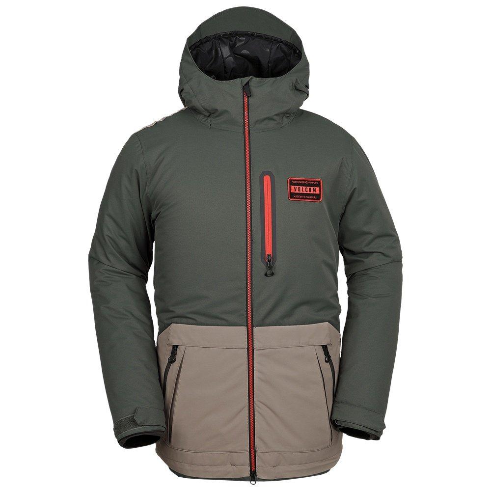 Volcom Analyzer Insulated Snowboard Jacket (Men's) - Black Green