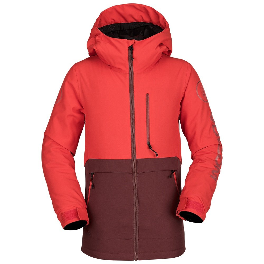 Volcom Holebeck Insulated Snowboard Jacket (Boys') - Fire Red