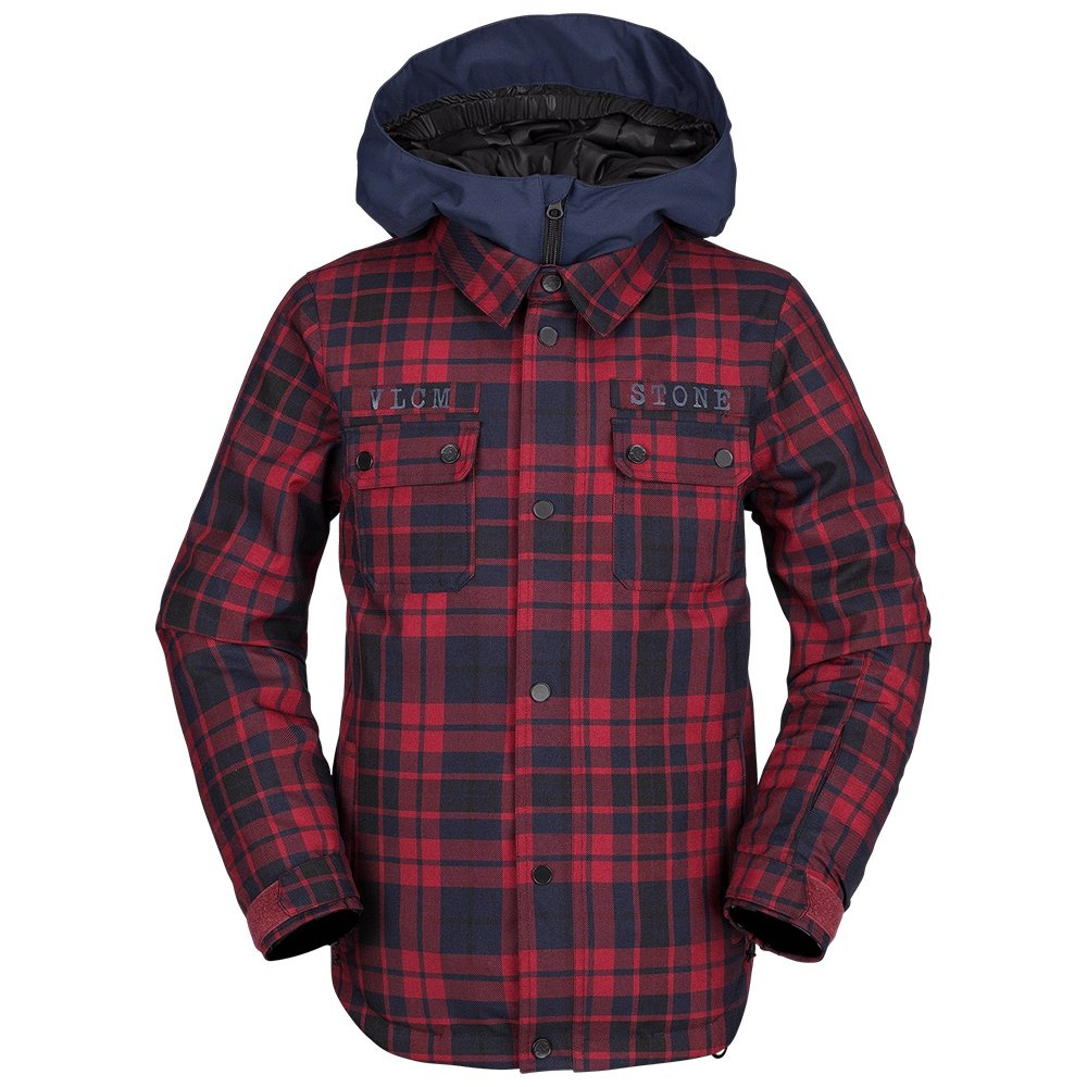 Volcom Neolithic Insulated Snowboard Jacket (Boys') - Red
