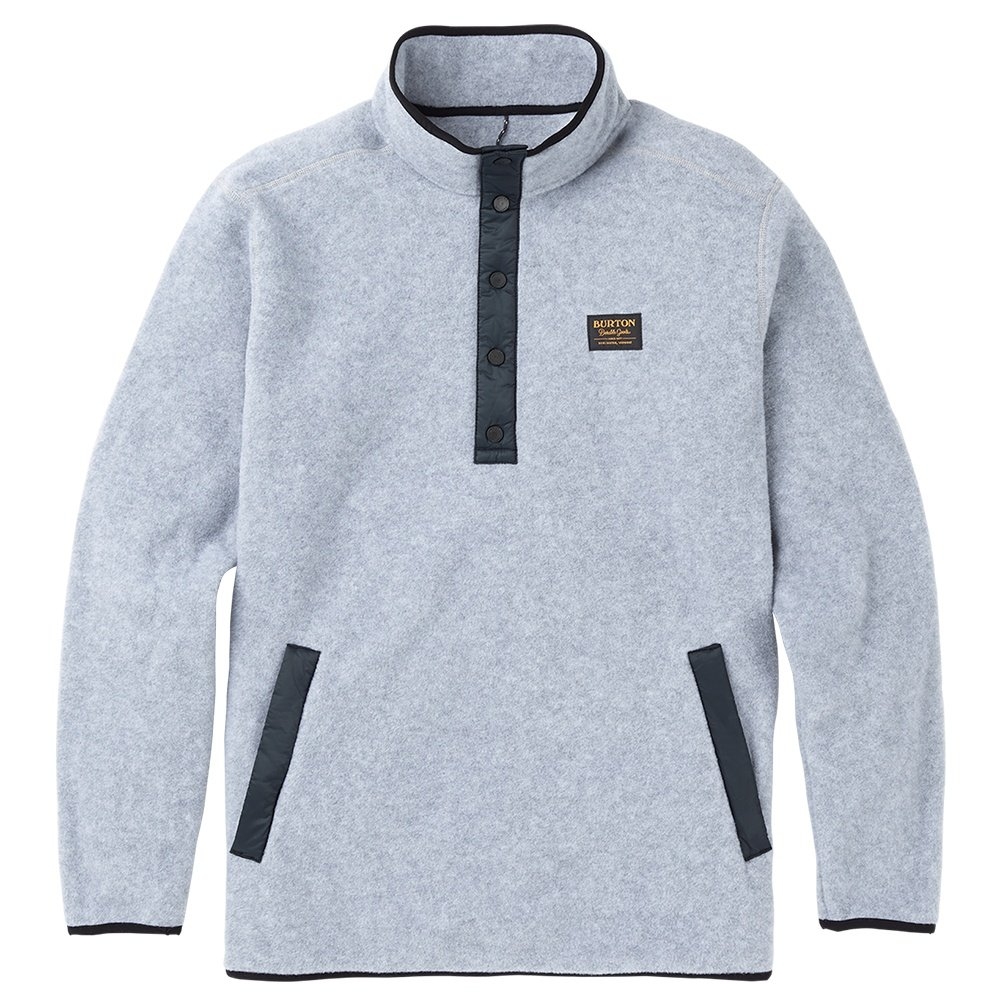 Burton Hearth Pullover Fleece Mid-Layer (Men's) - Gray Heather