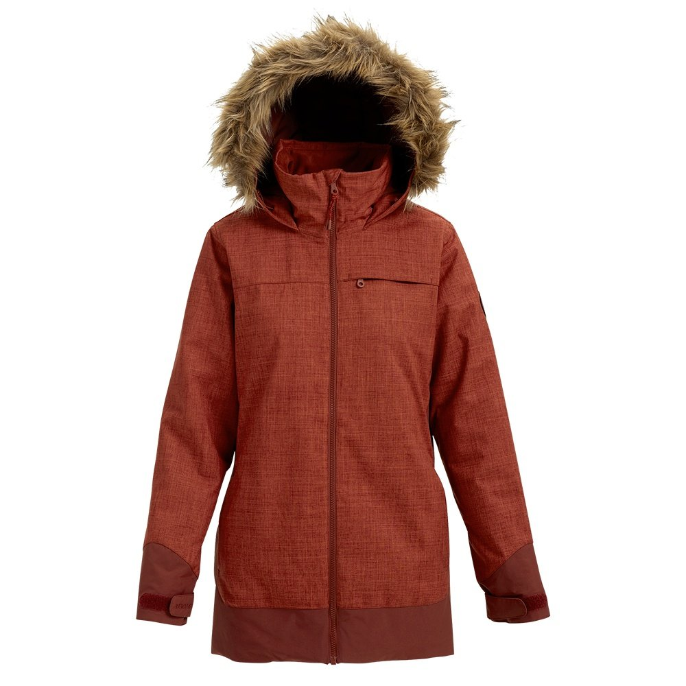 Burton Lelah Insulated Snowboard Jacket (Women's) - Sparrow Heather/Sparrow