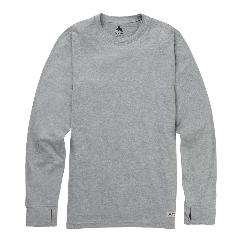 Burton Midweight Crew Baselayer Top (Men's) - Monument Heather