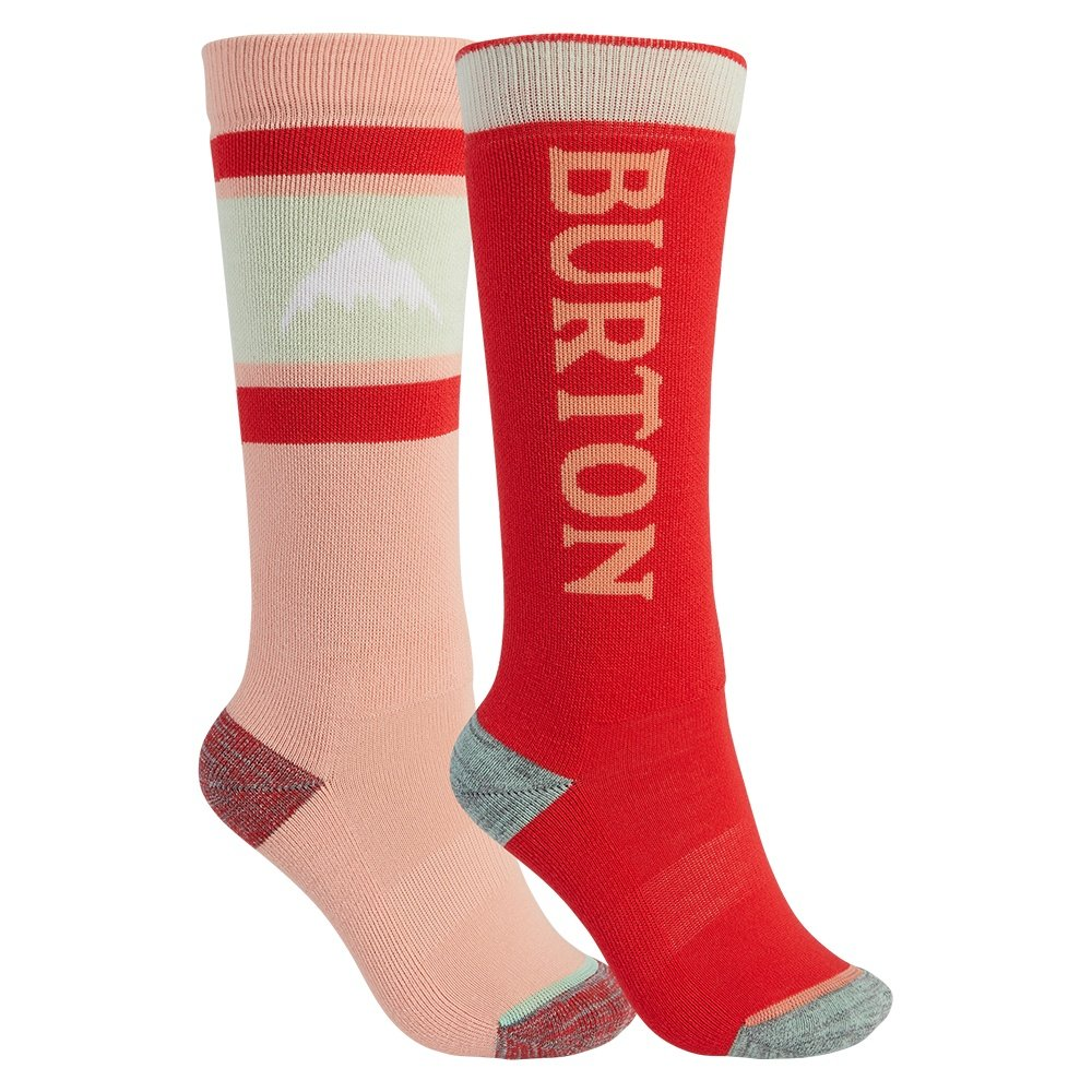 Burton Weekender 2-Pack Snowboard Socks (Boys') - Pink Dahlia/Hibiscus Pink