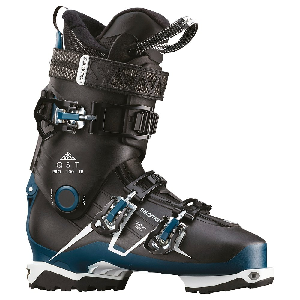 Salomon QST Pro 100 TR Ski Boot (Men's) - Black/Blue/White