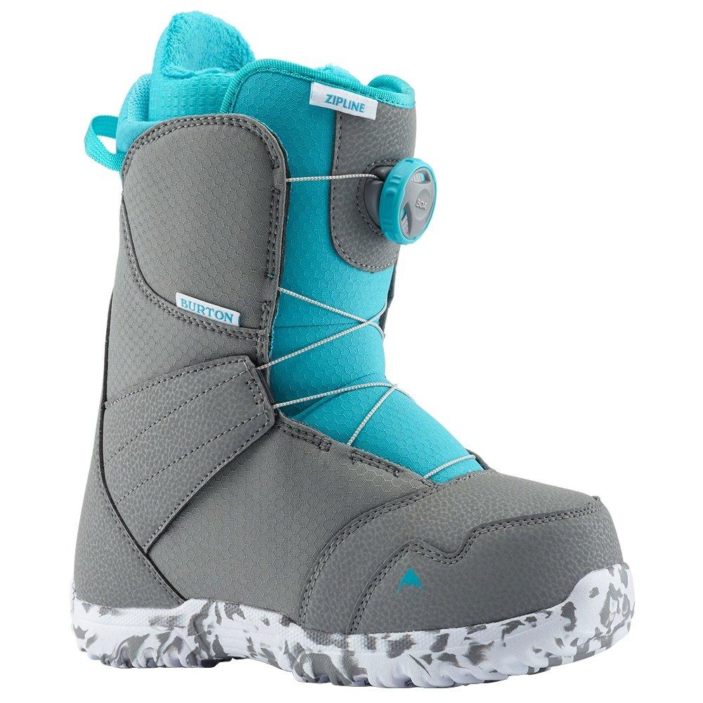 Burton Zipline Boa Snowboard Boots (Kids') - Gray/Surf Blue