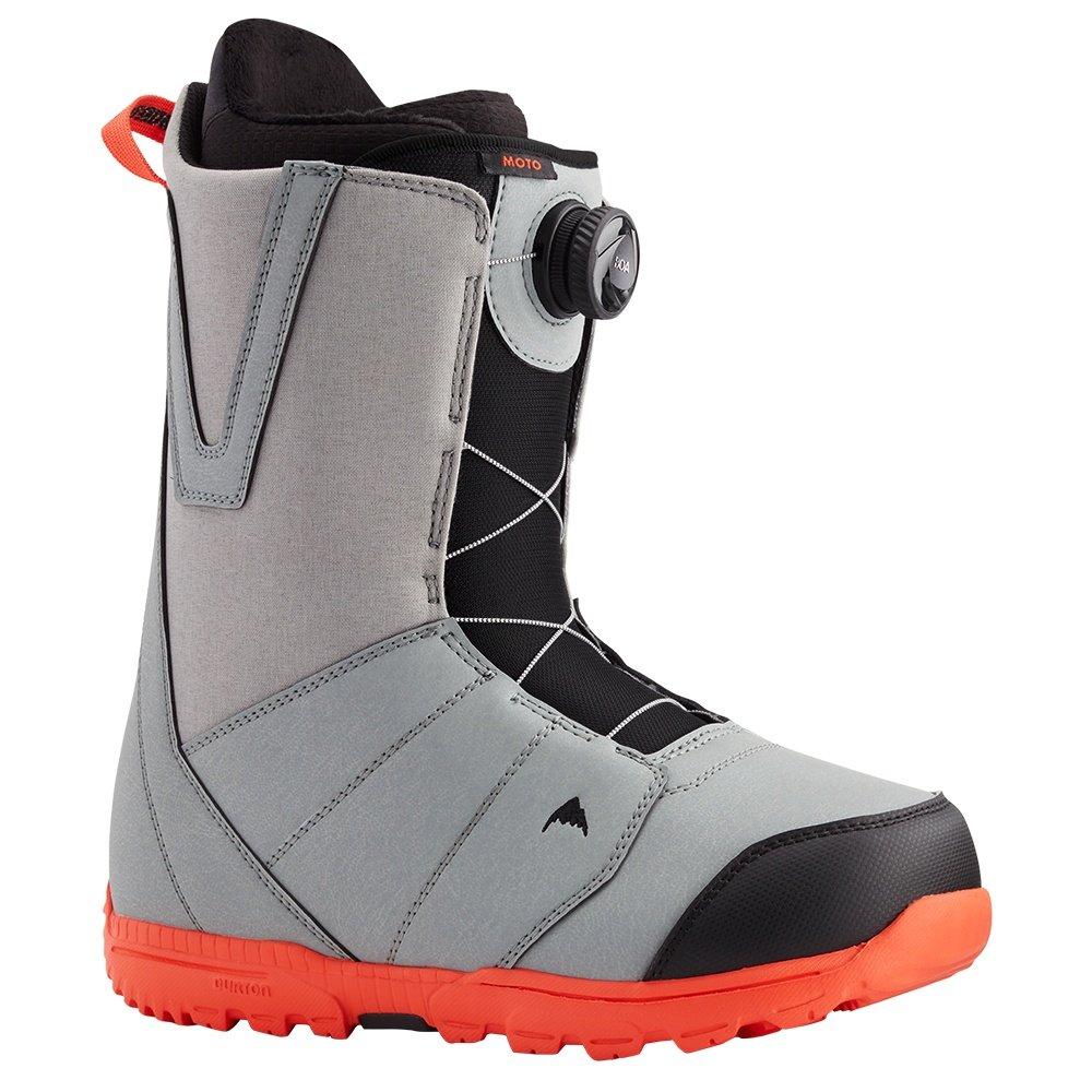 Burton Moto Boa Snowboard Boot (Men's) - Gray/Red