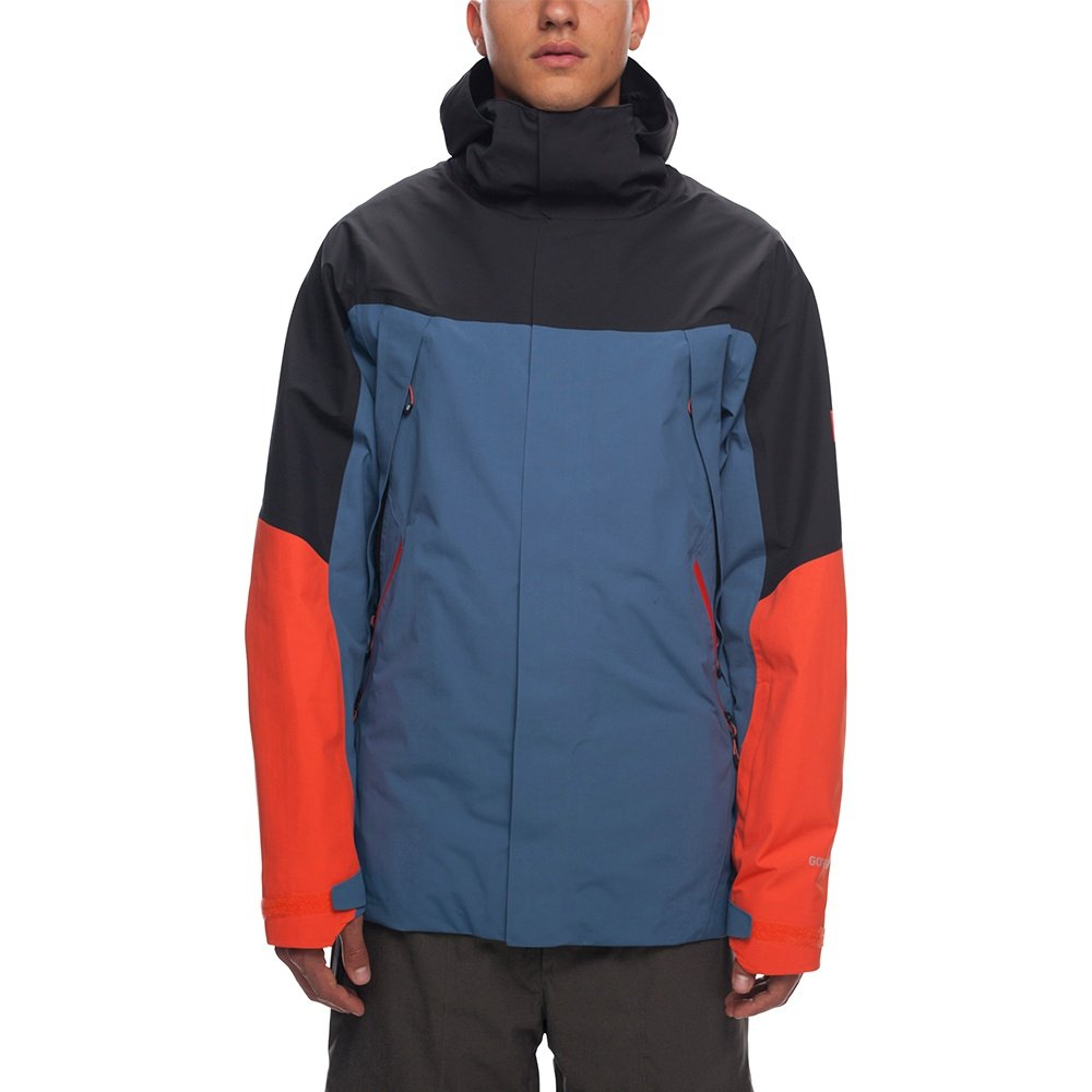 686 Stretch GORE-TEX Zone Thermagraph Insulated Snowboard Jacket (Men's) - Bluesteel Colorblock
