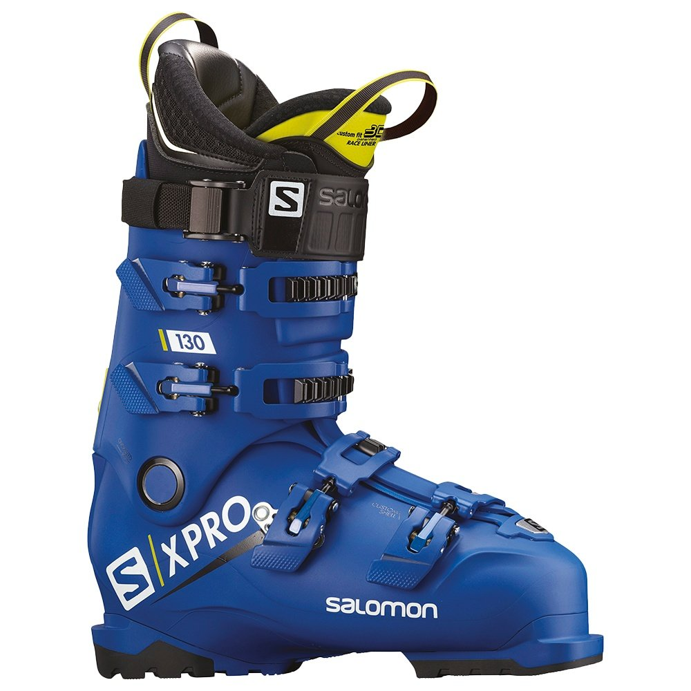 Salomon X Pro 130 Ski Boot (Men's) - Blue/Acid/Black