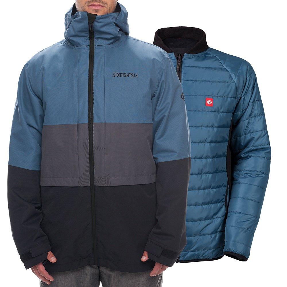 686 Smarty 3-in-1 Form Snowboard Jacket (Men's) - Bluesteel Colorblock