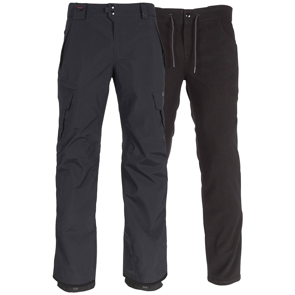 686 Short Smarty 3-in-1 Cargo Snowboard Pant (Men's) - Black
