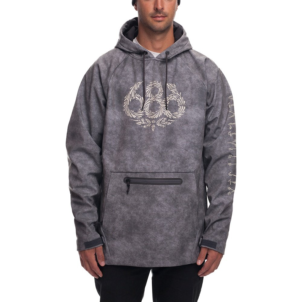 686 Ace Waterproof Hoody (Men's) - Charcoal Wash Dklein