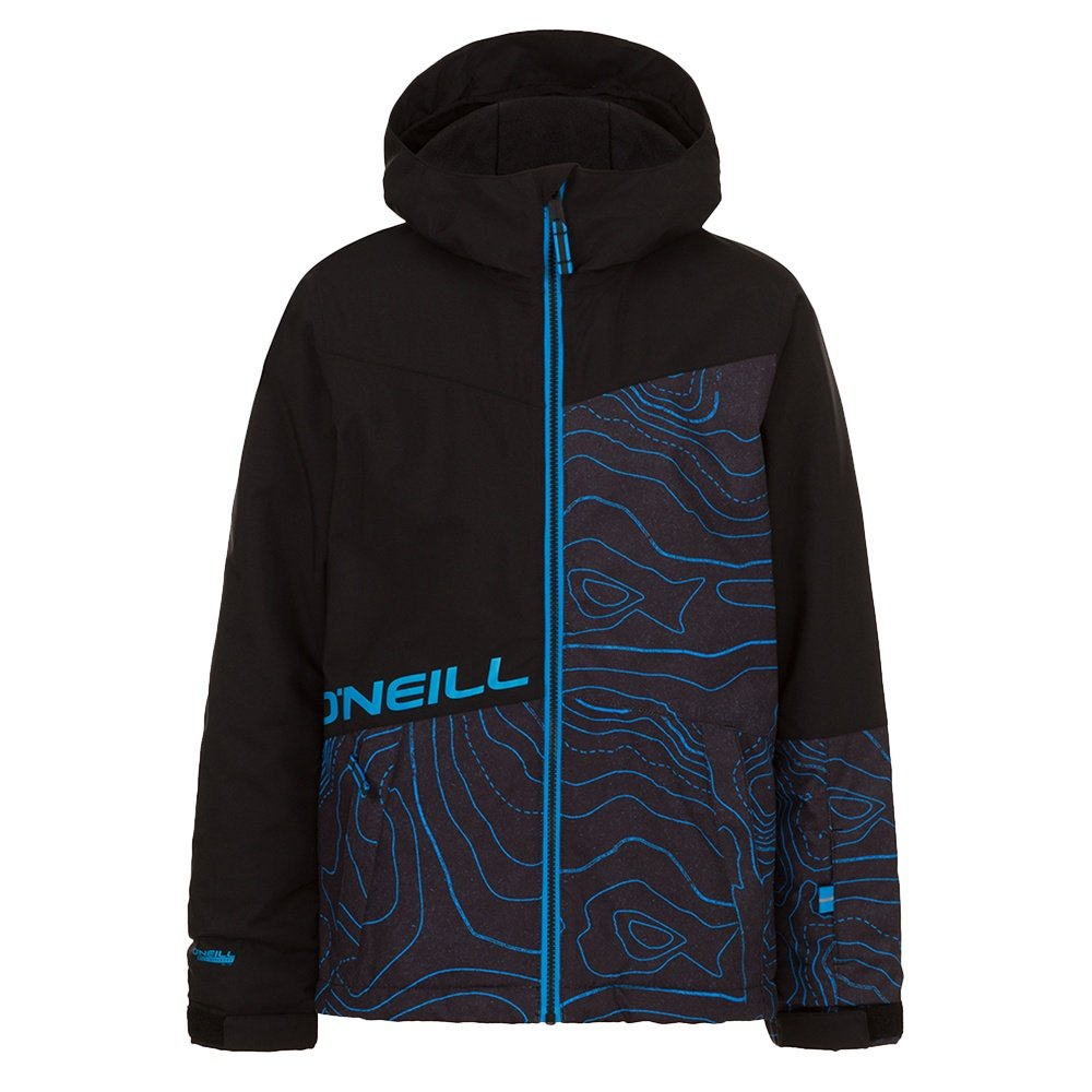 O'Neill Hubble Insulated Snowboard Jacket (Boys') - Black/Blue