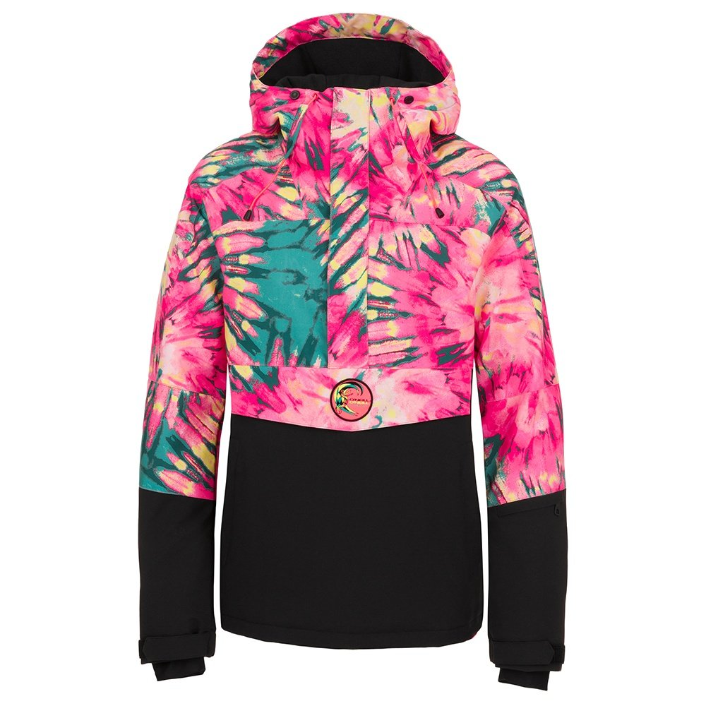 O'Neill Frozen Wave Insulated Anorak Snowboard Jacket (Women's) - Pink/Green