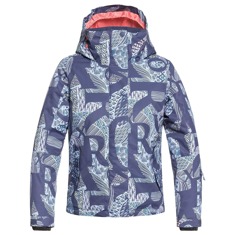 Roxy Jetty Insulated Snowboard Jacket (Girls') - Crown Blue/Freespace Girl