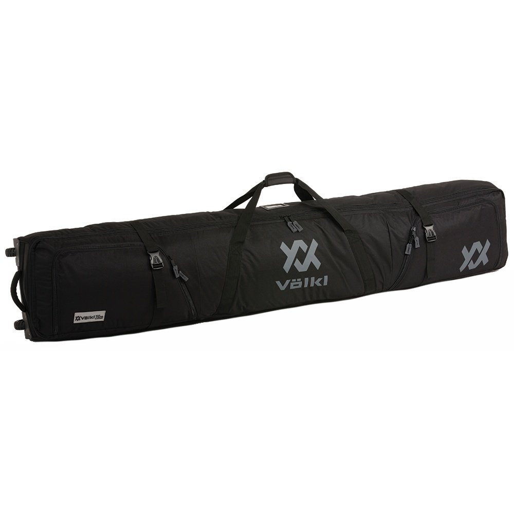Volkl Double 200cm Wheeled Ski Bag  - Black