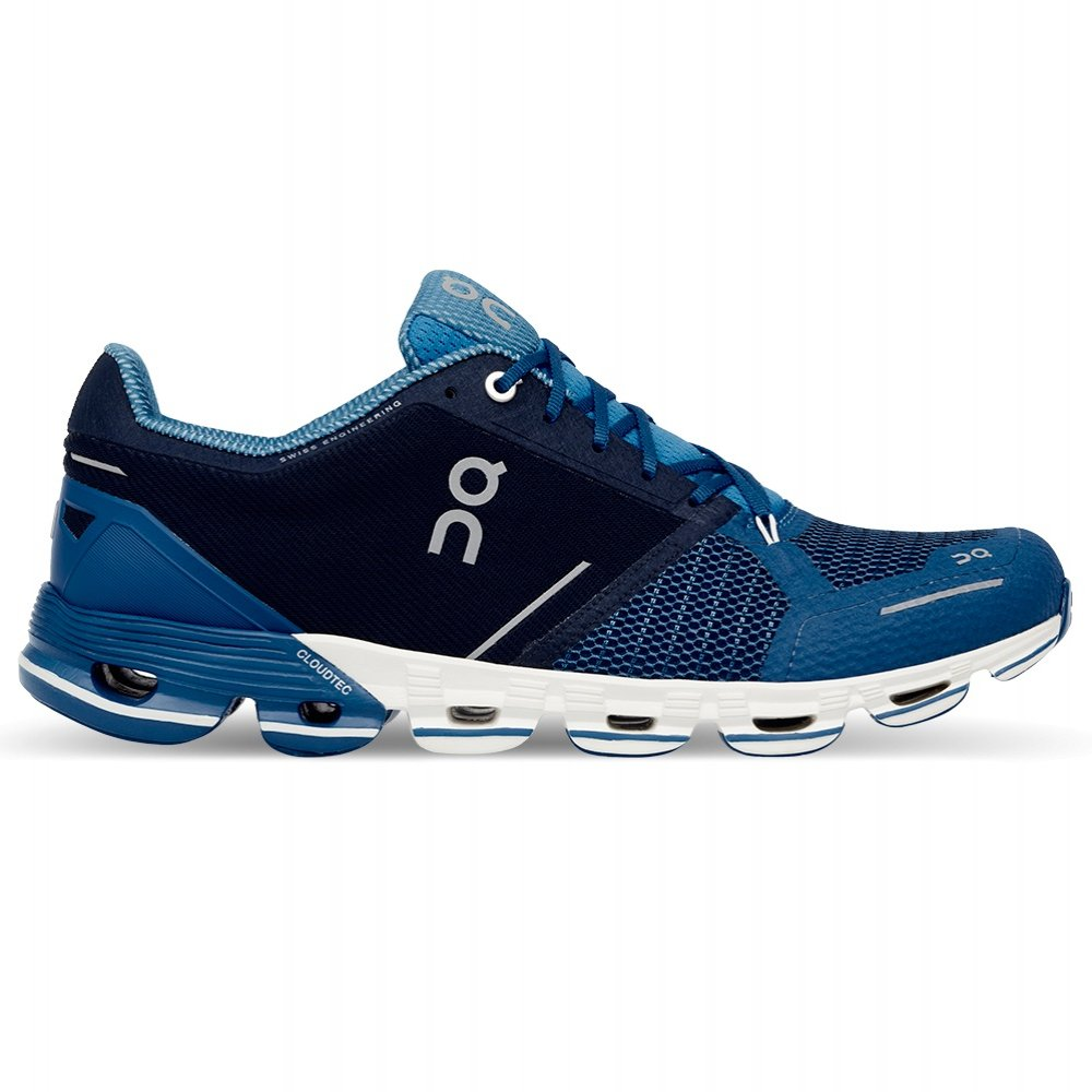 On Cloudflyer Runner Shoe (Men's) - Blue/White