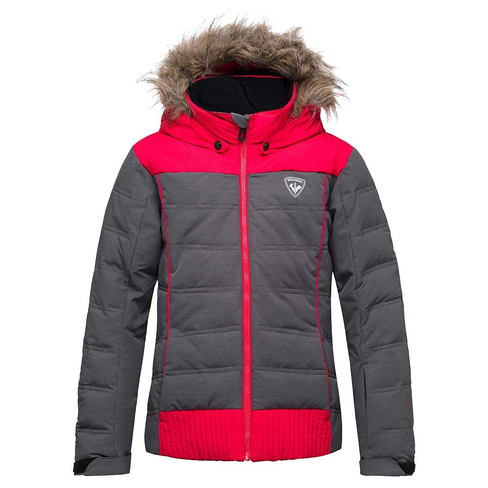 Rossignol Girl BB Polydown Heather Insulated Ski Jacket (Girls') - Heather Black