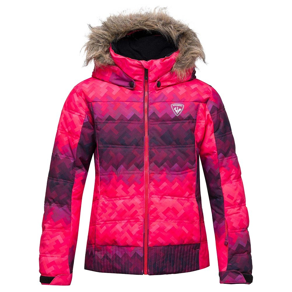 Rossignol Girl BB Polydown PR Insulated Ski Jacket (Girls') - Pink Gradient