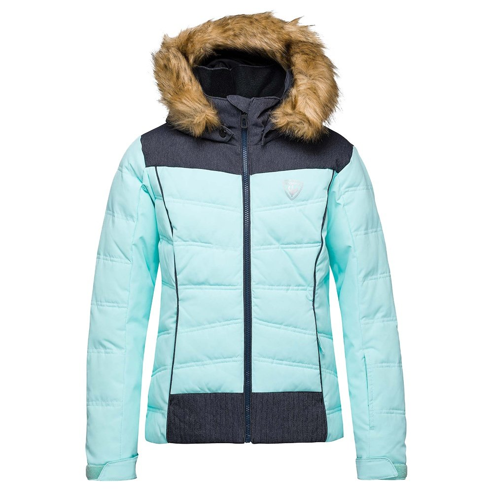 Rossignol Girl BB Polydown Insulated Ski Jacket (Girls') - Blue Stencil