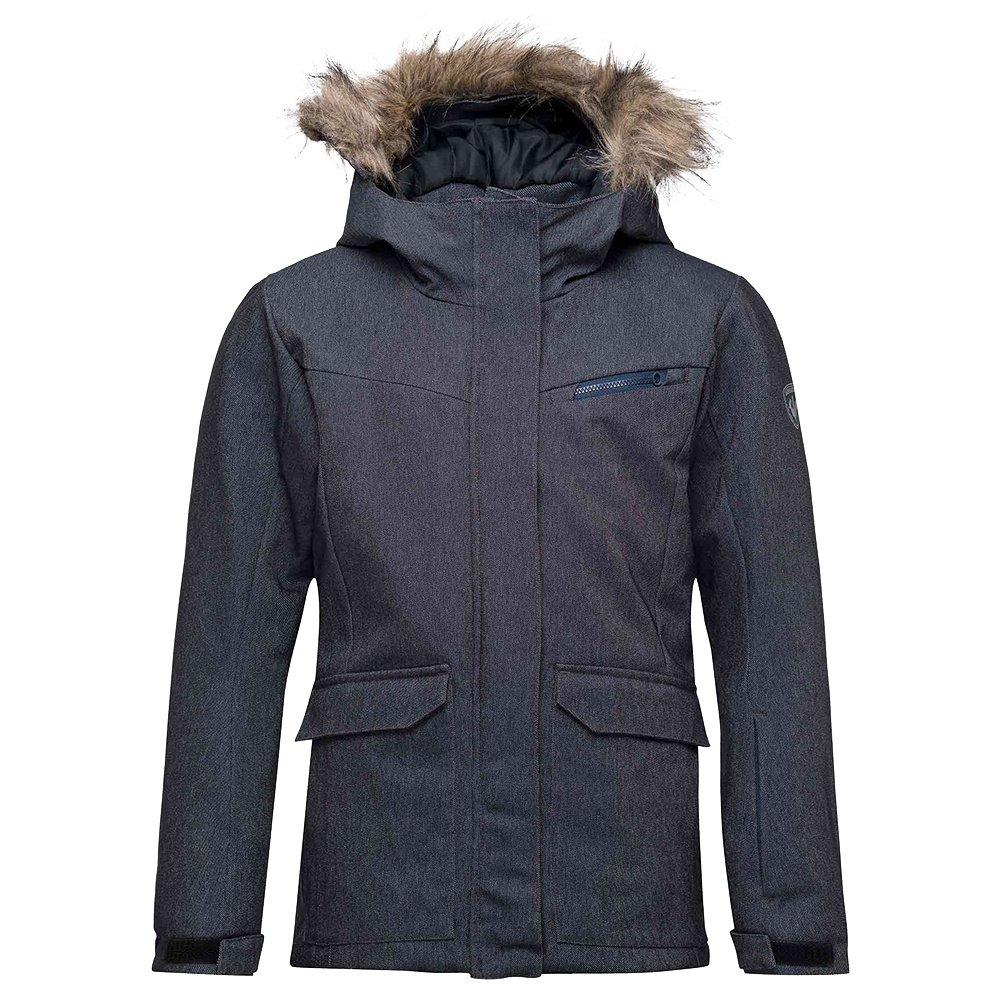Rossignol Girl Parka Denim Insulated Ski Jacket (Girls') - Denim