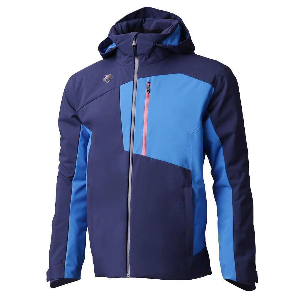 Descente Rage Insulated Ski Jacket (Men's) - Dark Night/Artic Storm/Electric Red
