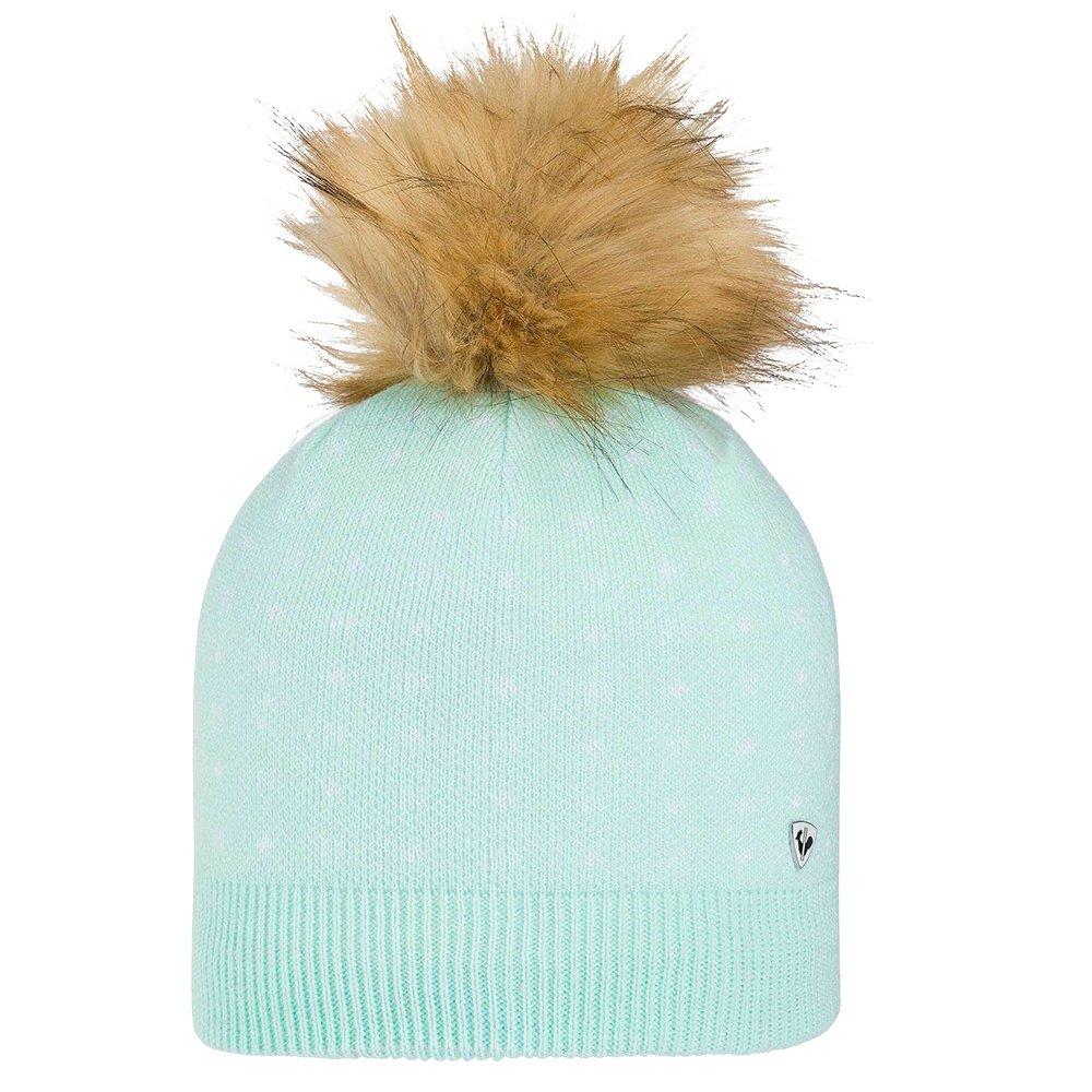 Rossignol Jr Myla Fur Hat (Girls') - Blue Stencil