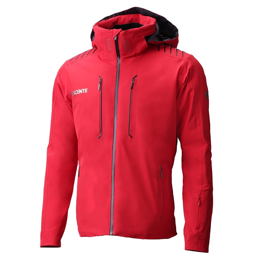 Descente Finnder Insulated Ski Jackets (Men's) - Electric Red /Black