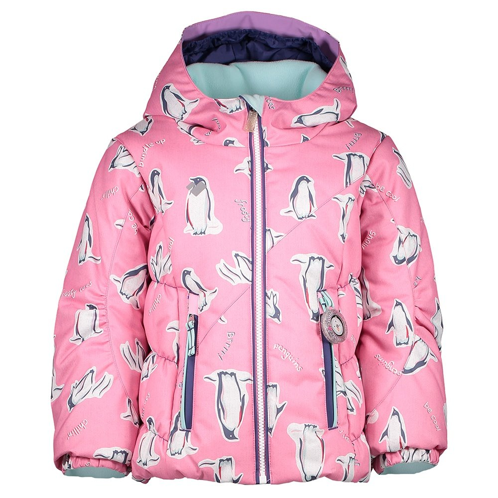 Obermeyer Cakewalk Insulated Ski Jacket (Little Girls') - Penguins n Pink Print