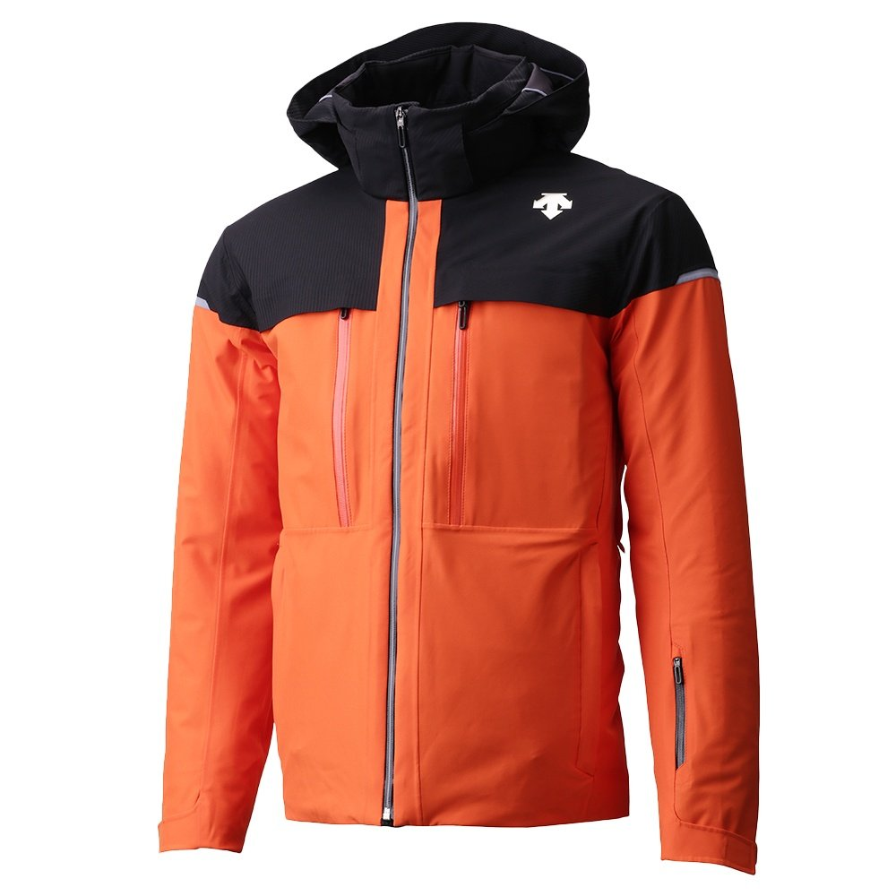 Descente Canada Ski Cross Down Jacket (Men's) - Blaze Orange/Carbon Black