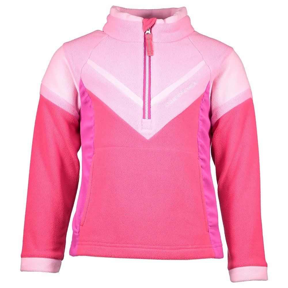 Obermeyer Slide Fleece Top Mid-Layer (Little Girls') - Pink Out