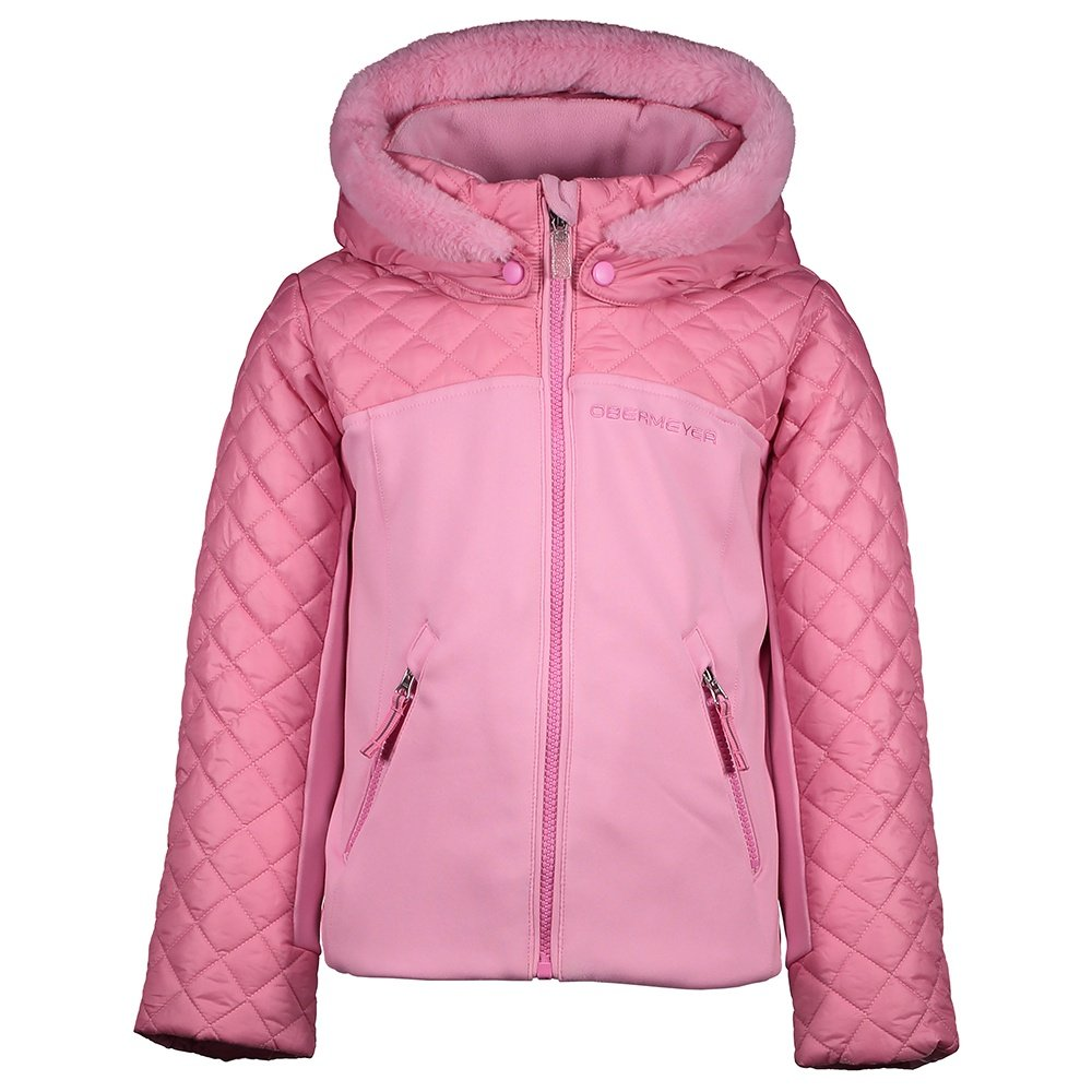 Obermeyer Polonaise Hybrid Insulated Ski Jacket (Little Girls') - Sugar Berry