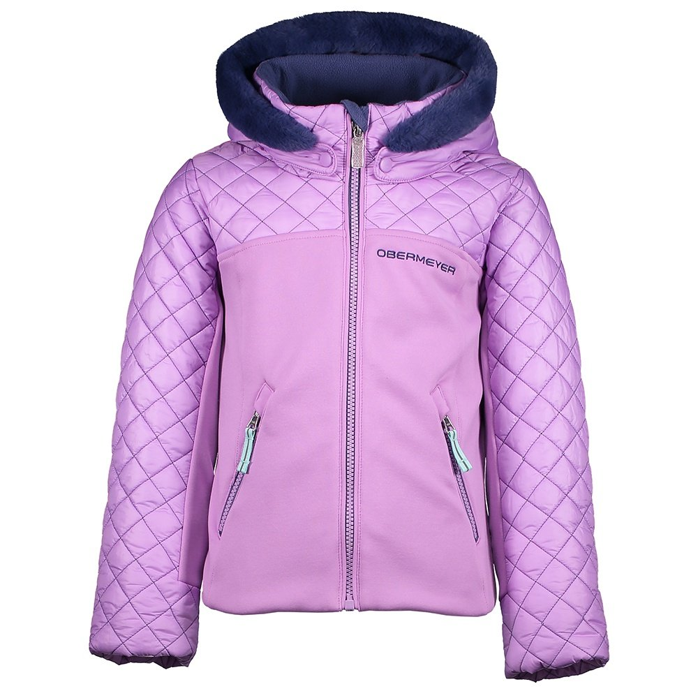 Obermeyer Polonaise Hybrid Insulated Ski Jacket (Little Girls') - Violetta