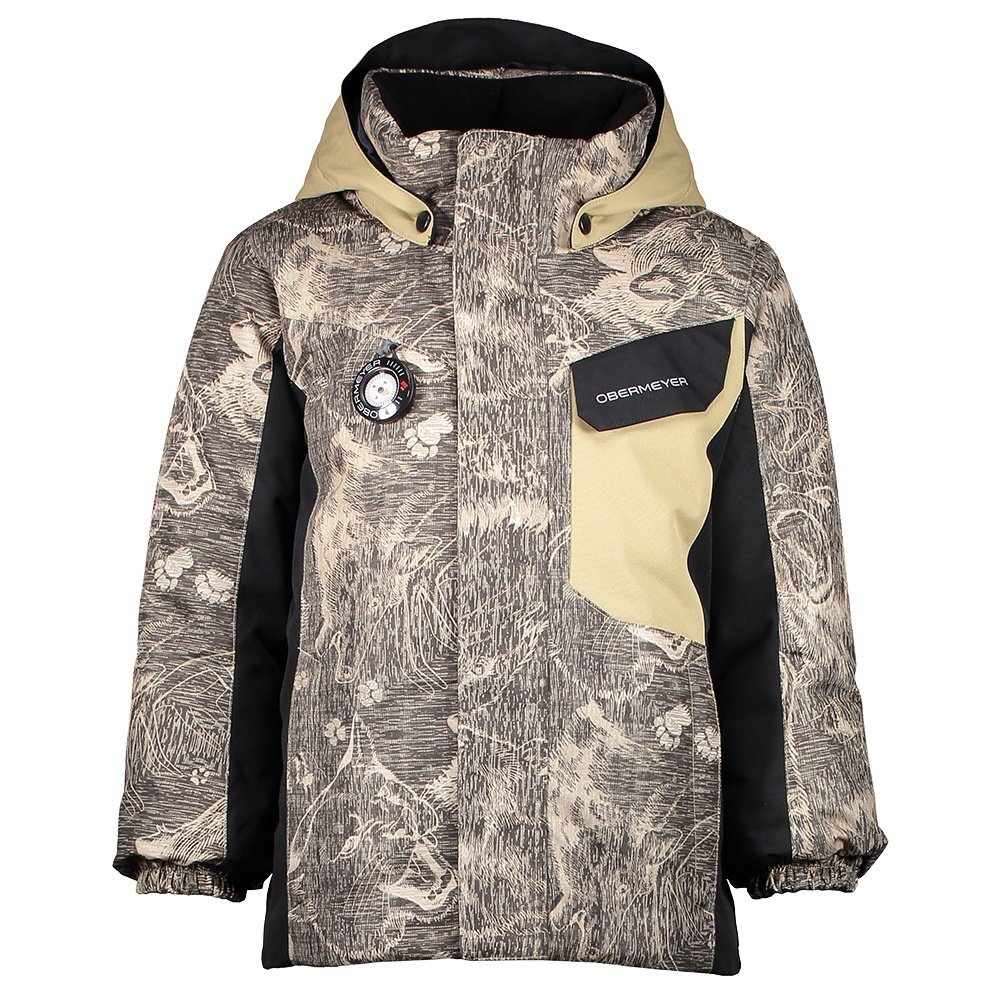 Obermeyer Galactic Insulated Ski Jacket (Little Boys') - Howl Sand Storm Print