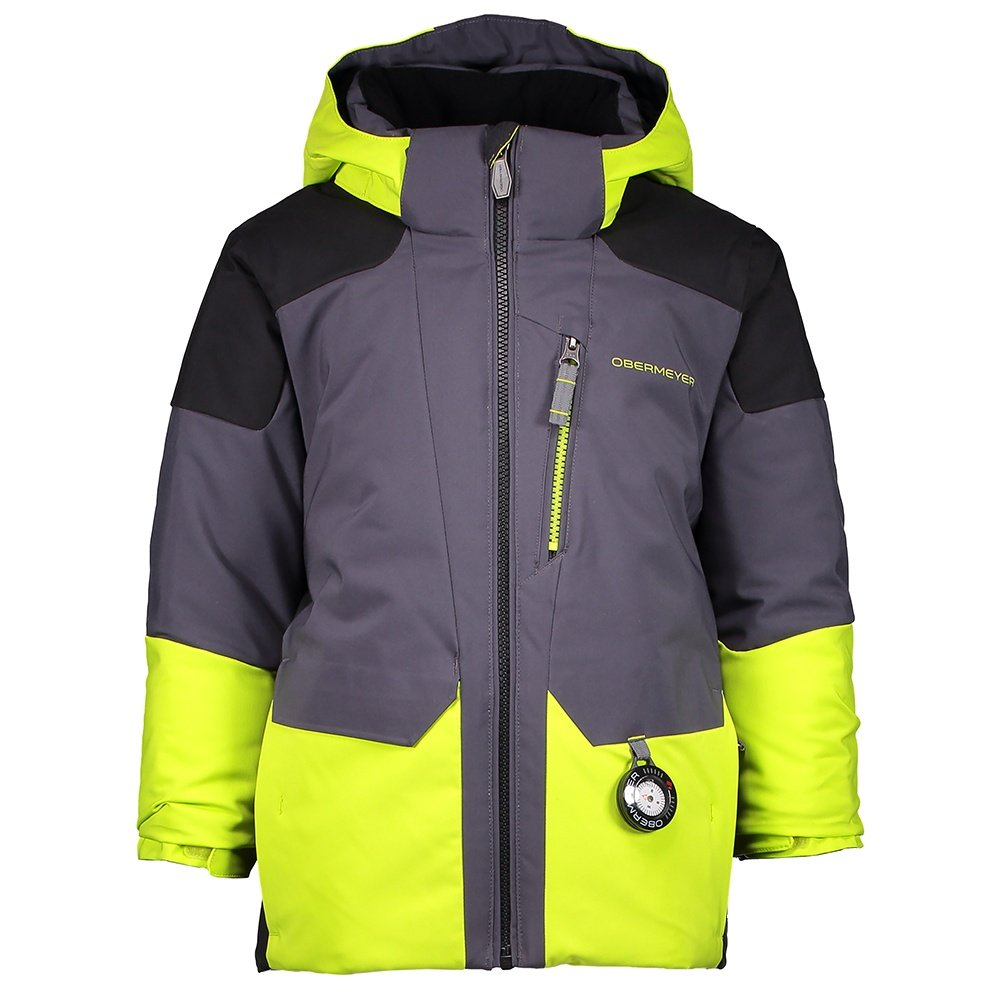Obermeyer Influx Insulated Ski Jacket (Little Boys') - Green Flash