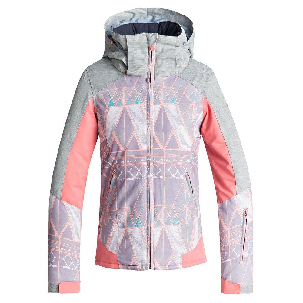 Roxy Sassy Insulated Snowboard Jacket (Girls') - Minimal Grey/Mosaic